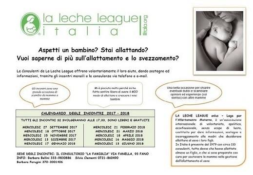 la leche league incontri a Fano