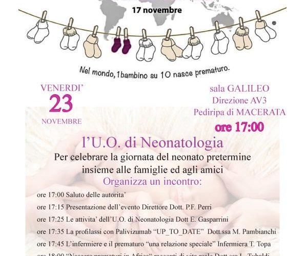 Giornata mondiale prematurità 2018 Macerata programma